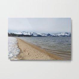 Snow and Sand Metal Print