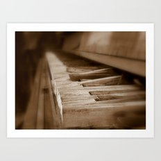 When the Music's Over Art Print