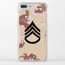 Staff Sergeant (Desert Camo) Clear iPhone Case