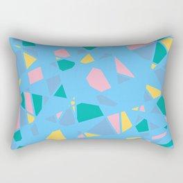 Teal Terrazzo Rectangular Pillow