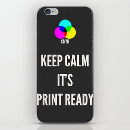 Print Ready Dark iPhone Skin