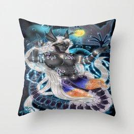 Alien Seabeast Throw Pillow