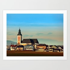 The village church of Sankt Peter am Wimberg I | architectural photography Art Print
