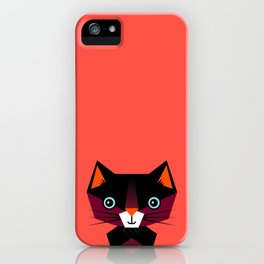 Kids Room Animals Cat – Nursery art for boys and girls iPhone Case