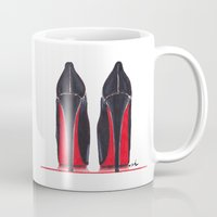 heels Mugs featuring Mighty Heels by anna hammer
