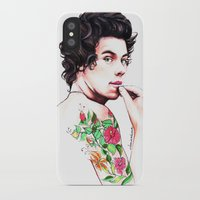 harry styles iPhone & iPod Cases featuring Harry Styles by dariemkova