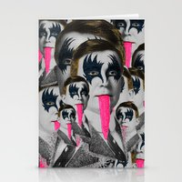 kiss Stationery Cards featuring kiss by DIVIDUS