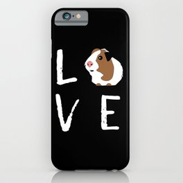 Guinea Pig Gift Love Guinea Pig Lovers Birthday Present iPhone Case