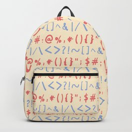 Type Marks and Signs Pattern Backpack