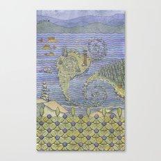 The North Summer. White Sea. Canvas Print