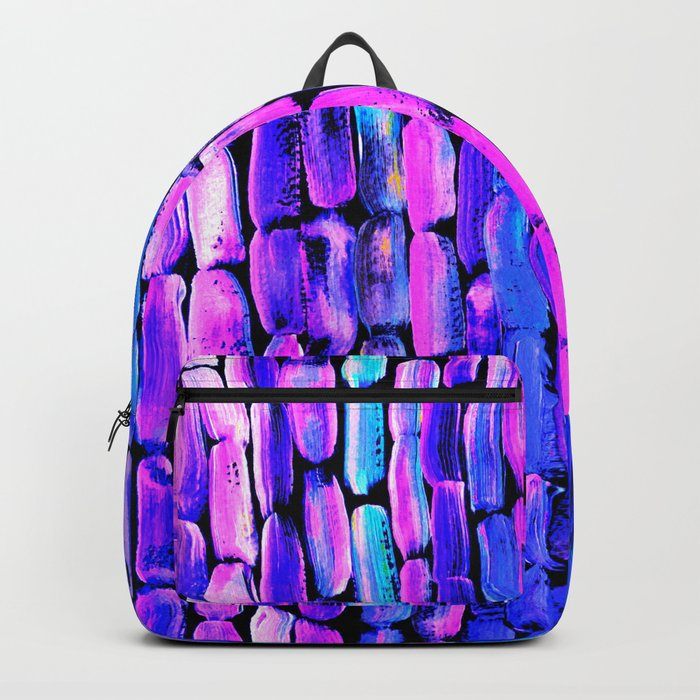 Yellow Sugarcane on Pink and Blue Backpack