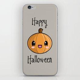 Happy Halloween Pumpkin Kawaii :) iPhone Skin