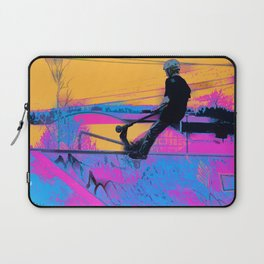 On Edge -  Stunt Scooter Artwork Laptop Sleeve