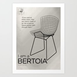 Chairs - A tribute to seats: I'm a Bertoia (poster) Art Print