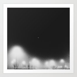 Fog Light in the Night Art Print