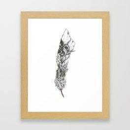 Gilded Feather Framed Art Print