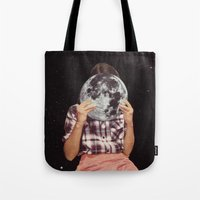Tote Bags featuring FACE TO FACE by Beth Hoeckel