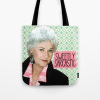 golden girls Tote Bags featuring Golden Girls - Dorothy by courtneeeee