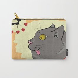 colorful illustration with cartoon cat lover Carry-All Pouch
