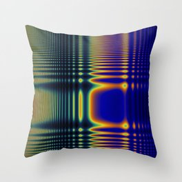 Digital Rainbow Frequency Wave Throw Pillow