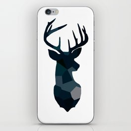 Blue Geometric Stags Antlers iPhone Skin
