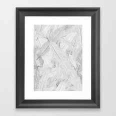 Feathered (Pattern). Framed Art Print