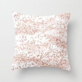 Elegant abstract rose gold girly confetti Throw Pillow
