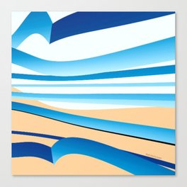 Water and Sand Canvas Print