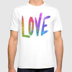 Just Love MEDIUM White Mens Fitted Tee