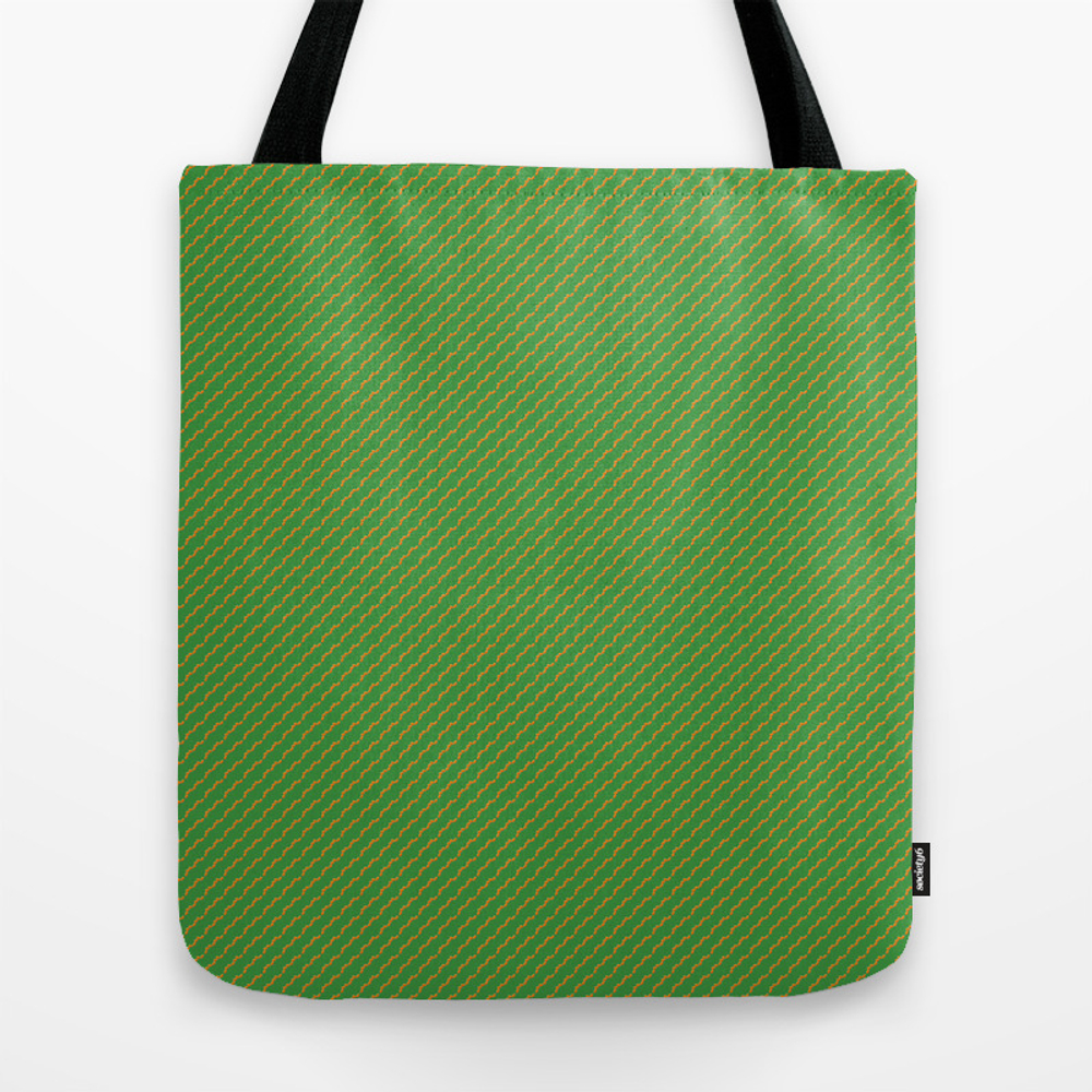 Orangeleaves And Green Tote Purse by Journalier (TBG9831870) photo