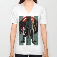 robocop V-neck T-shirts featuring Detroit's Finest - OCP Robocop by milanova