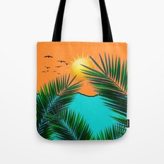 Palm in the sun Tote Bag