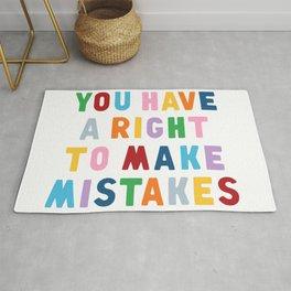 Make Mistakes Rug