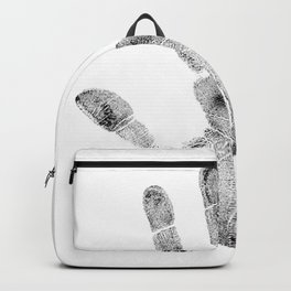 Hand palm dlan fingerprint Backpack