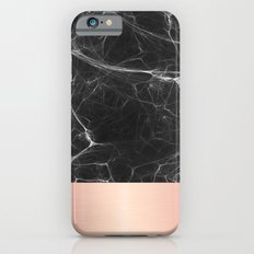 Black Marble and Pink  iPhone 6 Slim Case