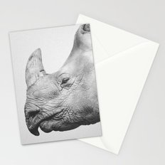 Rhino Art | Minimalism | Black and White Stationery Cards