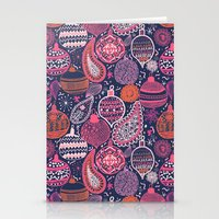 bohemian Stationery Cards featuring Bohemian Christmas by Demi Goutte
