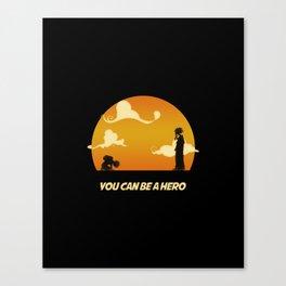 My Hero Sunset Canvas Print