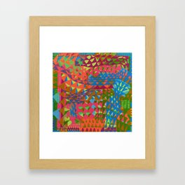 Triangular Plaid Framed Art Print