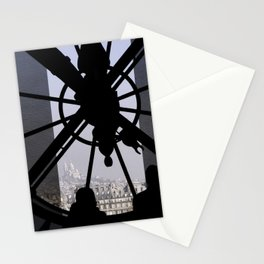 Time in Paris France, silhouettes against the d'Orsay clock Stationery Cards