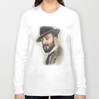 gentleman Long Sleeve T-shirts featuring Gentleman by Rachel Zink