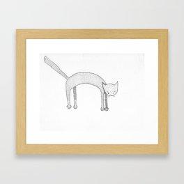 Leaping Cat Framed Art Print