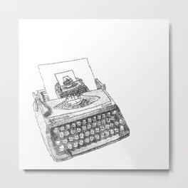 Typewritten Typewriter... writer... er... Metal Print