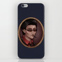crowley iPhone & iPod Skins featuring Crowley by Abbi Laura