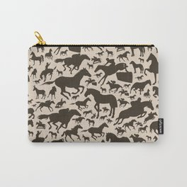 Horse a background Carry-All Pouch