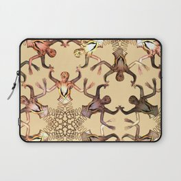 pattern with a lady.. Laptop Sleeve