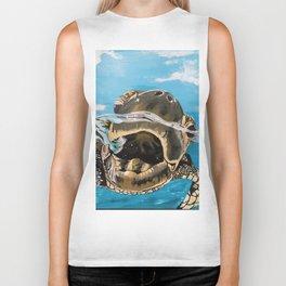Sea Turtle By Noelle's Art Loft Biker Tank