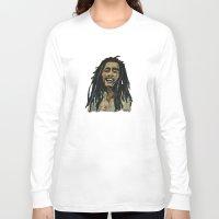 rasta Long Sleeve T-shirts featuring Rasta  Man by gretzky