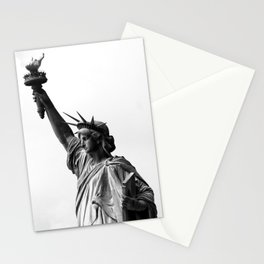 Statue of Liberty Black and White Stationery Cards