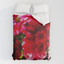 Red Gerbera Daisy Abstract Comforters